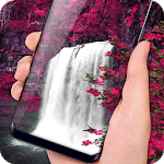 Waterfall Flower live Wallpaper 2018: 3D Aquarium icon
