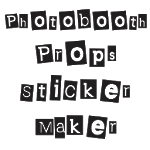 Photobooth Props Sticker Maker icon