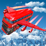 Flying Bus Driving simulator 2019: Free Bus Games for pc logo