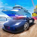 Police Ship Transporter Car Cargo icon
