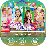 Birthday Video Maker With Music & Editor icon