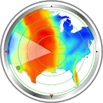 Weather radar map: waves, rain & hurricane tracker icon