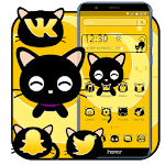 Black Cute Cat Theme icon
