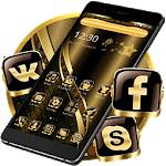 Black Golden Brown Theme icon