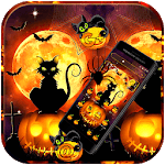 Black Halloween Cat Theme icon