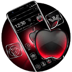 Black Red Apple Crystal Theme icon