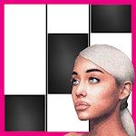 7 Rings Ariana Grande Piano Black Tiles for pc logo