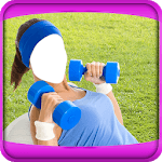 Fitness Girls Photo Montage icon