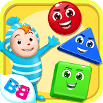 Learn shapes and colors for toddlers kids icon