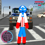 Us Capitain Stickman Rope Hero Gangstar Crime icon