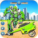 Flying Car  Fighting Transformation Robot icon