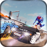 Police Robot Car Rampage icon