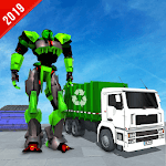Multi Robot Transform Garbage Truck City Cleaner icon