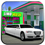 Modern Limo Car Wash: Limousine car Parking icon