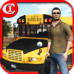 Crazy School Bus Driver 3D icon