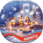 Christmas Songs Live Wallpaper with Music 🎶 icon