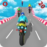 Motorcycle Stunts Game:Sky Runner Bike Stunts icon