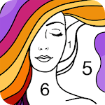 Fun Coloring - Color By Number Paint Happy & Relax for pc logo