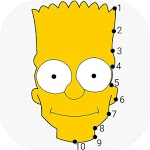 Dot To Dot To Simpsons Colouring Puzzle Game icon