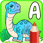 Cute Animated Dinosaur Coloring Pages for pc logo