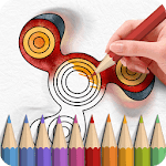 Fidget Spinner Coloring Books icon