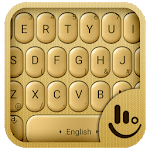 3D Gold Keyboard Theme icon
