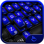 Cool Black Blue Keyboard Theme for pc logo