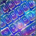 Live Galaxy Neon Keyboard Theme icon