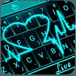 Live 3D Neon Blue Love Heart Keyboard Theme icon