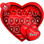 Live Red Romantic Heart Keyboard Theme icon