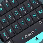 Neon Blue Power Button Keyboard Theme icon