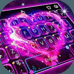 Neon Galaxy Heart Keyboard Theme icon