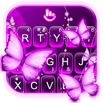 Purple Butterfly Keyboard Theme icon
