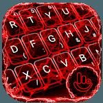 Red Lightning Keyboard Theme for pc logo