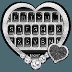 Black Silver Glitter Keyboard Theme icon