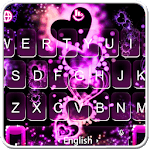 Sparkling Pink Heart Keyboard Theme icon