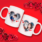 Couple Cup Photo Frame for pc logo
