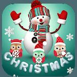 Cute Merry Christmas Snowman Theme icon