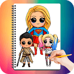 Drawing Cute Chibi Super Heroes for pc logo