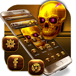 Dark Golden Skull Theme icon