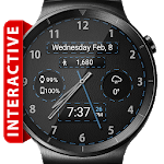 Black Leather HD WatchFace Widget & Live Wallpaper icon