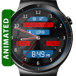 Black Metal LED HD WatchFace Widget Live Wallpaper icon