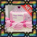 Design a Girl's Birthday Cake icon