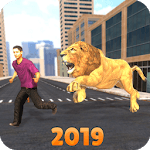 Angry Lion City Attack Simulator 2019 icon
