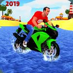 Beach Water Surfer Bike Rider: Motorcycle Stunts icon