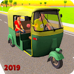 Offroad Tuk Tuk Rickshaw Taxi Sim 2019 icon