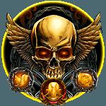 Golden Devil Skull Theme icon