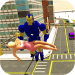 Grand Iron Superhero Flying - City Rescue Mission icon