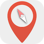 Digital compass - Map compass & Windy map icon