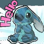 Cute Blue Koala Stitch Stickers for WhatsApp icon